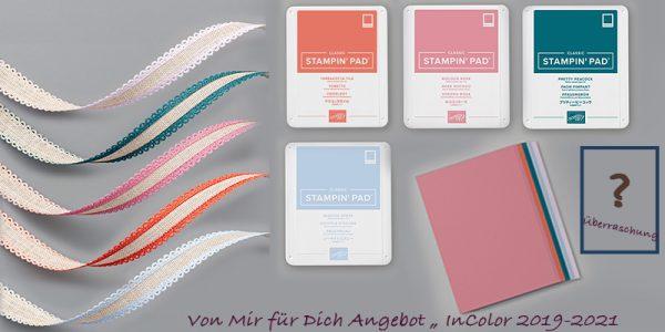 """KreativFreunde - Von Mir für Dich Angebot """"InColor Farben 2019/2021"""