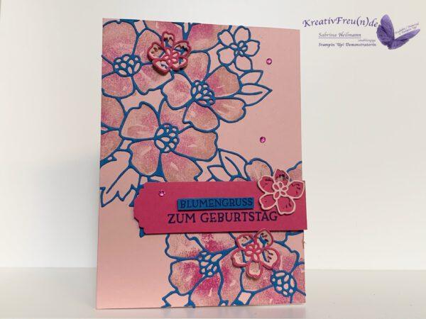Grußkarte Blumengruss